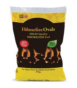 Homefire Ovals Smokeless Coal - 25kg bag
