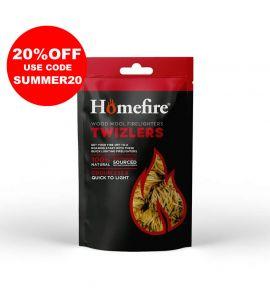 Bag of Homefire Twizlers (Wood Wool) Natural Firelighters
